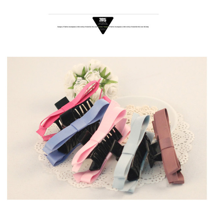 New Fashion Brand Cute Girls Fuchsia Bowknot Clips For Hair Jewelry Satin Bands Hair Claws Hair Acessories Women