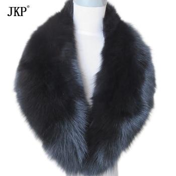Real Fox Fur Collar Women 100% Natural Fox Fur Scarf Winter Warm Fur Collar Scarves Black new 2019 real fox fur handbag 100