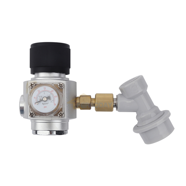 CO2 Mini Gas Regulator With Corny Keg Ball Lock Disconnect For Beer ...