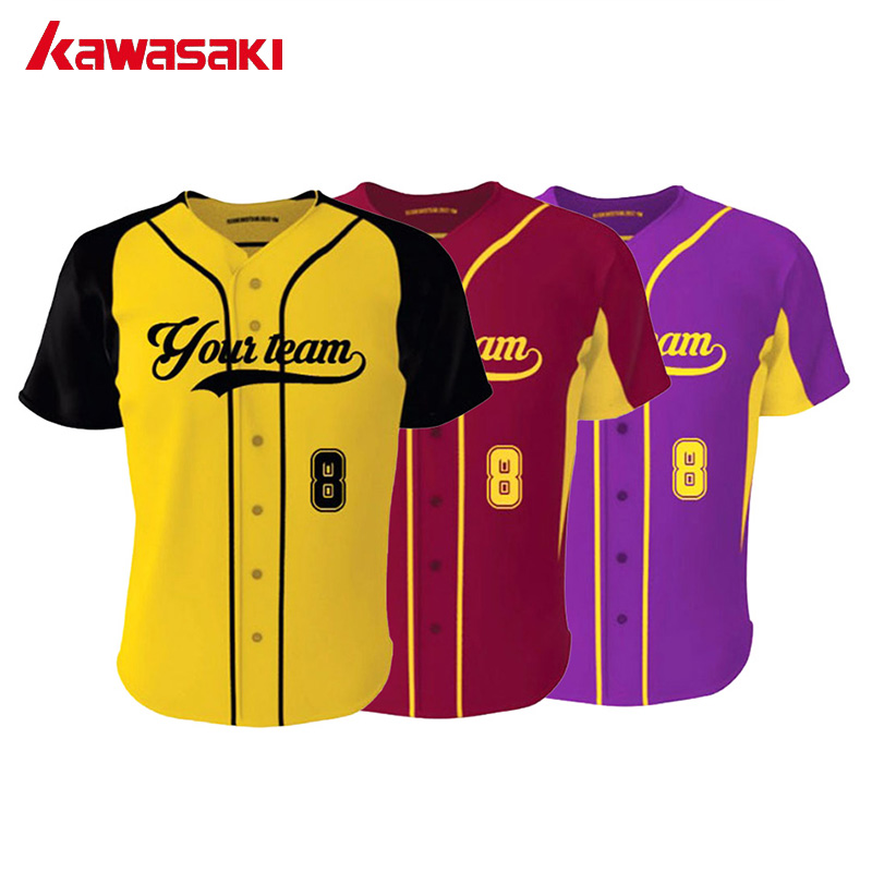 5bb75a2d9 kawasaki Collage Style Baseball jersey Shirt Men Custom Sublimation  Polyester Breathable Youth & Adult Softball Top Jerseys