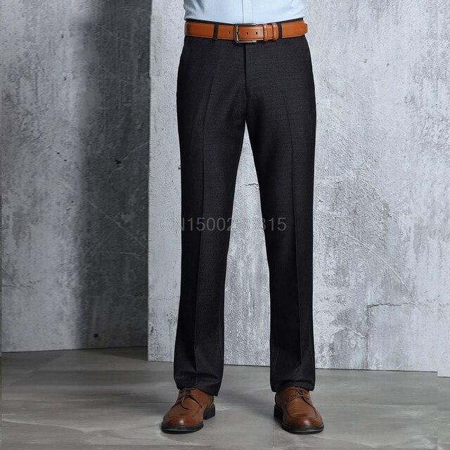 Youzimeihui мужская толщиной не плиссированные мужские брюки среднего в возрасте бизнес случайный Тонкий костюм брюки мужчины осенью и зимой новый