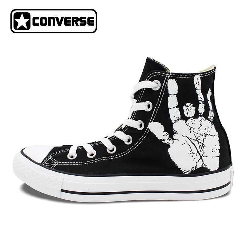 Men Women Converse All Star Skull Roses Custom Original Design Hand Painted Shoes Woman Man Sneaker Birthday Gifts цена
