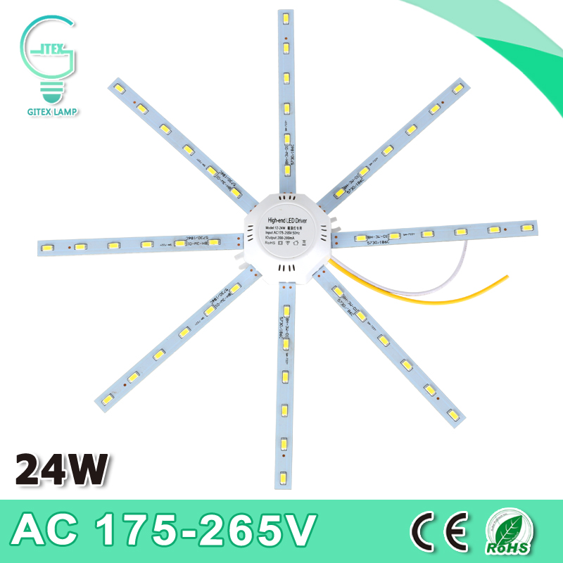 High Bright White Octopus Light 220V LED Ceiling Lamp 5730SMD 24W 48LED Expectancy Lamp Indoor Lighting 2017 new arrival ac 180 240v led ceiling lamp octopus light energy saving long life expectancy indoor lighting free shipping
