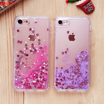 Silicone Liquid Shine Sand Case
