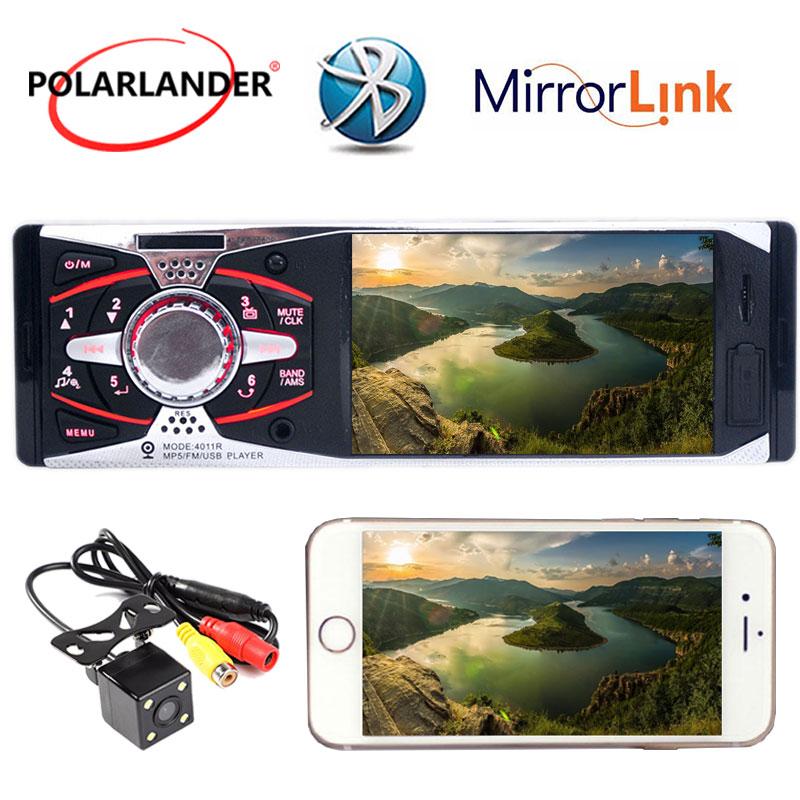 US $29 54 15% OFF|Bluetooth 4 1'' inch TFT HD screen car radio player USB  SD aux in FM remote control 1 din car audio stereo MP4 mp5-in Car Radios