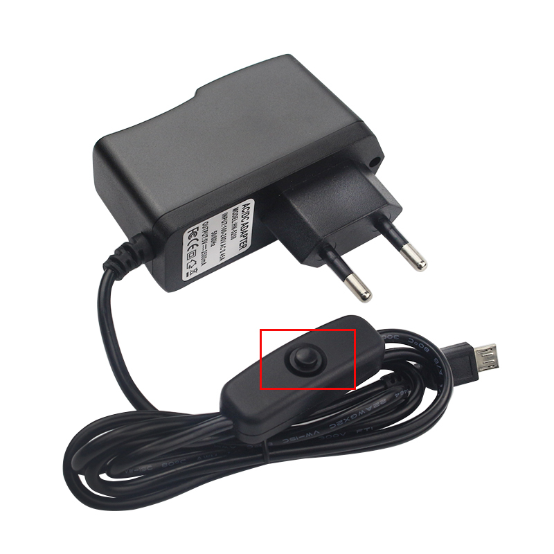 5V 2.5A Power Supply Raspberry Pi 3 B+ DC Power Adapter Switch Button EU US UK AU Plug For Raspberry Pi 3 Model B +/3
