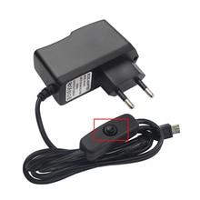 5 В 2.5A Питание кнопка включения DC Мощность адаптер 100 В ~ 240 В ЕС, США, Великобритании разъем АС для Raspberry Pi 3 Модель B