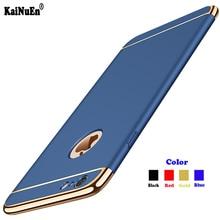 KaiNuEn Роскошные ударопрочный жесткий Броня пластиковый телефон назад etui, coque, крышка, чехол для Apple iphone 6 iphone 6s 6s аксессуары 3 в 1