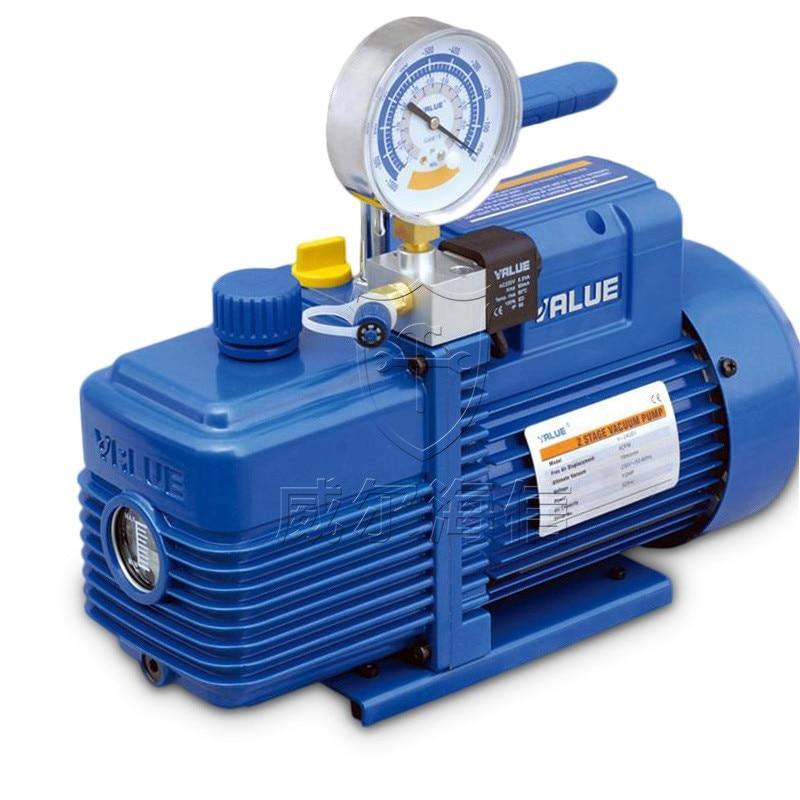 2L Vacuum Pump V-i140SV New Refrigerant R410A Air Conditioning Repair Fiber Model 2Pa 250W 7.2m3 / h With Solenoid Valve