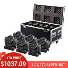 DHL Free Shipping 6xLOT 36X3W RGBW LED Beam Wash Moving Head Stage Light DMX512 DJ Disco PAR Laser Projector Lighting Effect