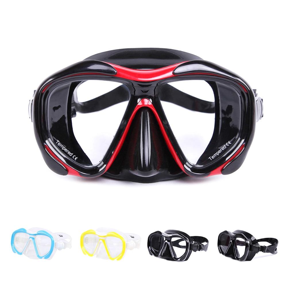 Brand Professional Silicone Gear Scuba Diving Mask Equipment Snorkel Adults Anti-Fog UV Waterproof Swim/Dive Glasses Men Women