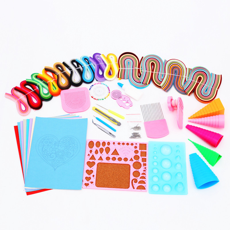 Free Shipping Most Complete Quilling  Paper Tools drawing material package Home DIY Decoration Pressure Relief Gift