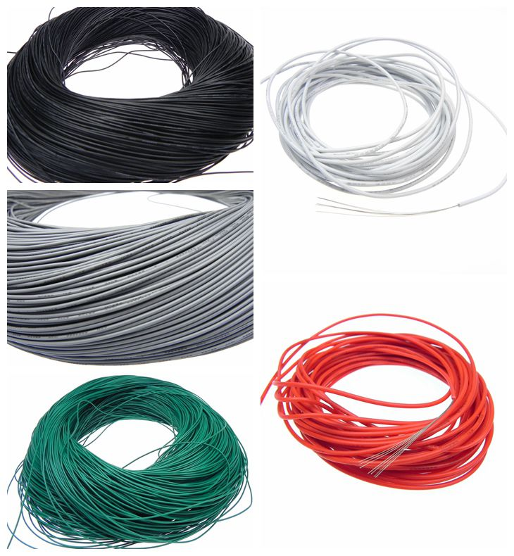 PVC Insulated tinned copper electronic wire 28AWG 26*0.25 2.5mm UL1007 copper cable electrical wires 30meters white 28awg ul1007 cable electronic wire to internal wiring electrical wires diy cables 100ft 28 awg