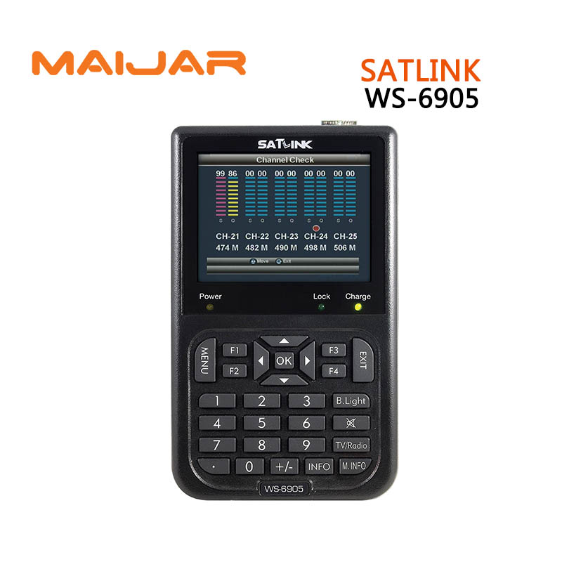 Satlink WS-6905 Digital Terrestrial Signal Finder (DVB-T) satlink 6905 ws6905 finder hdmi modulator satlink ws 6990 hd av input single channel dvb t modulator compact and wall mountable ws6990 ws 6990