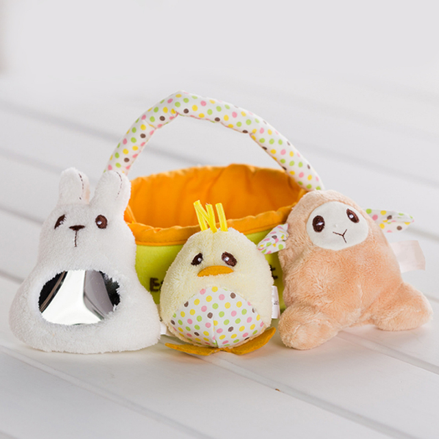 Aliexpress buy 1 set kids easter rabbit bags plush duck 1 set kids easter rabbit bags plush duck sheep candy bag easter baskets child gifts festival negle Choice Image