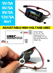 Image 5 - Free Shipping New High Voltage Adjustable UBEC 5V/6V/7.2V/8.4V/9V/12V