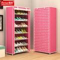 EL envío libre No tejido 8 Tier Homestyle Zapatos Bastidores De Almacenamiento de Gran Capacidad Zapatero Muebles Para El Hogar Bricolaje Sencillo