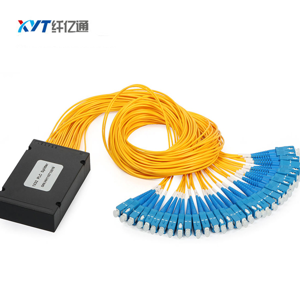 wholesale 4 pcs customized ABS box type optic splitter 1*32 PLC Splitter with SC/UPC for CATV/FTTX