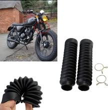 VODOOL 2Pcs 오토바이 프론트 포크 프로텍터 커버 각반 부트 쇼크 업소버 모토 크로스 오프로드 핏 먼지 자전거 용 더스트 가드