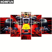 5pcs Full Square Round Drill 5D DIY Diamond Painting Racing Car Multi Picture Combination 3D Embroidery