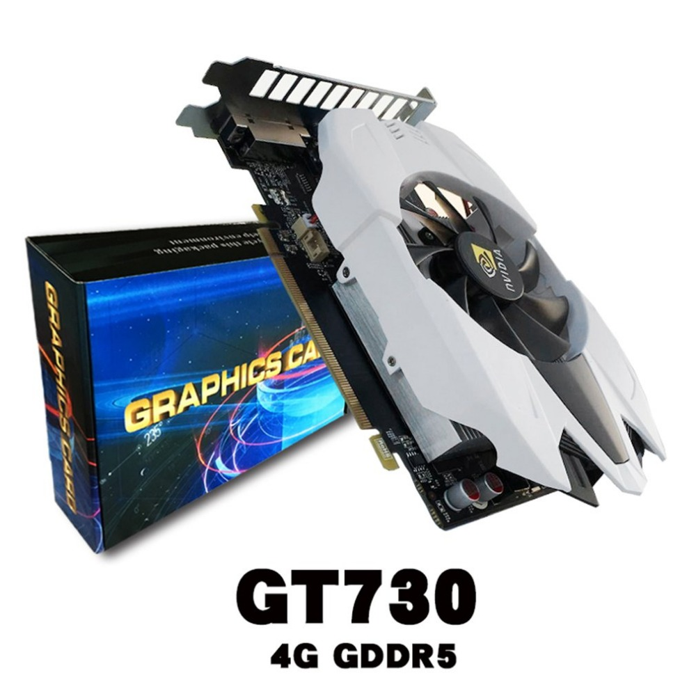 4GB GDDR5 128Bit PCI Express Game Video Card, Graphics Card, 128Bit PCI Expansion Port, for GT730, With Cooler Fans fast free ship for gameduino for arduino game vga game development board fpga with serial port verilog code