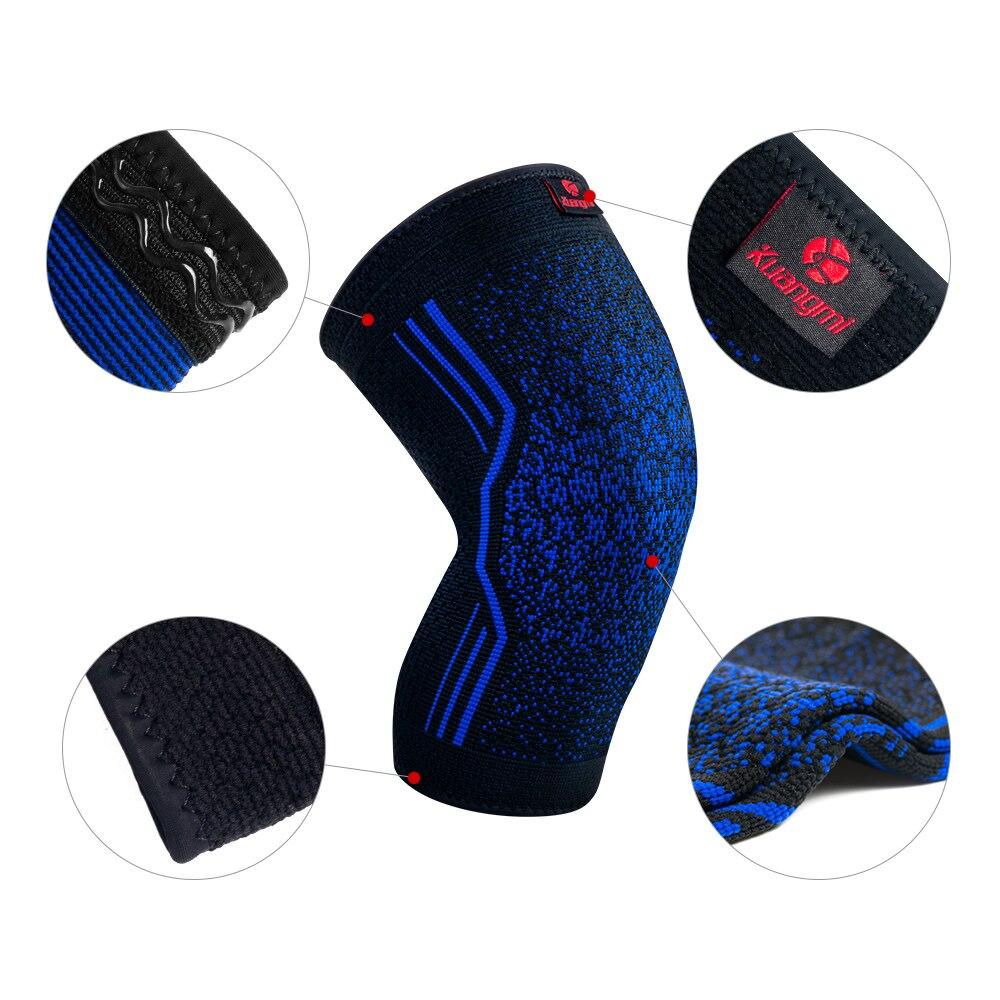 Kuangmi 1 Pair Knippläder Silikon Glidfri Volleyboll Knee Sleeve - Sportkläder och accessoarer - Foto 2