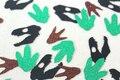 Скелет Динозавра следы Блеск Конфетти Стол Разброс свадьбы детские свадебные душ девичник украшения