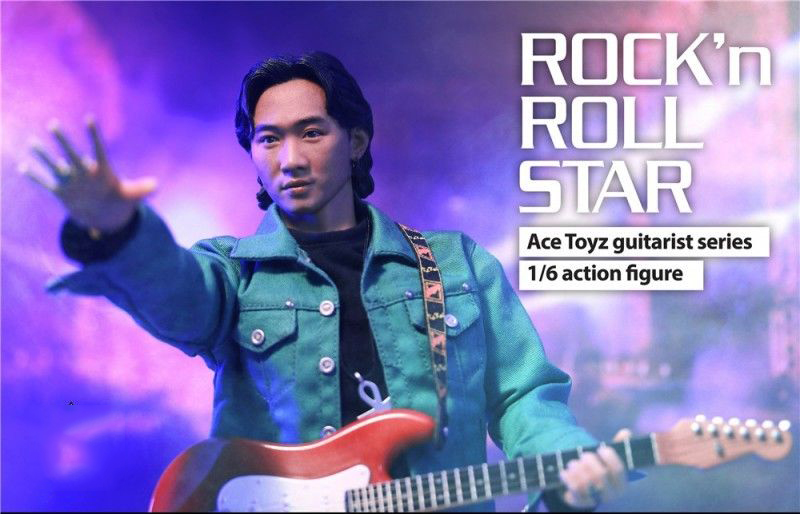 Necklace Ace Toyz 1//6 Scale AT-007 Rock /& Roll Star Beyond Guitarist