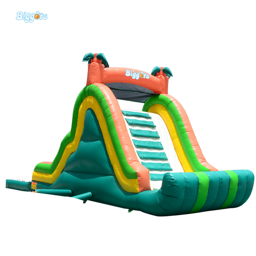 Hot Selling Giant Adults Inflatable Water Slide With Pool For Amusement Park children shark blue inflatable water slide with blower for pool