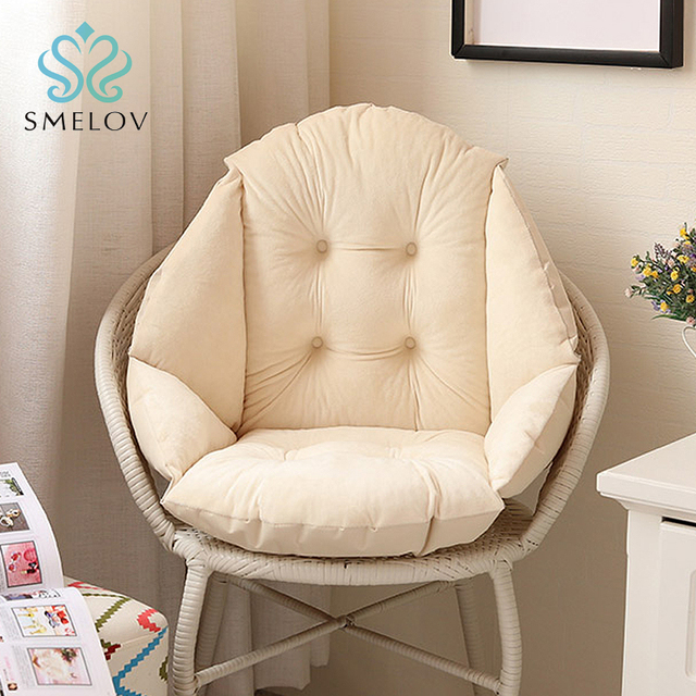 Soft Plush Shell Dining High Chair Seat Cushion Pad Lumbar Back Support Pillow For Car Home Office Computer Mat