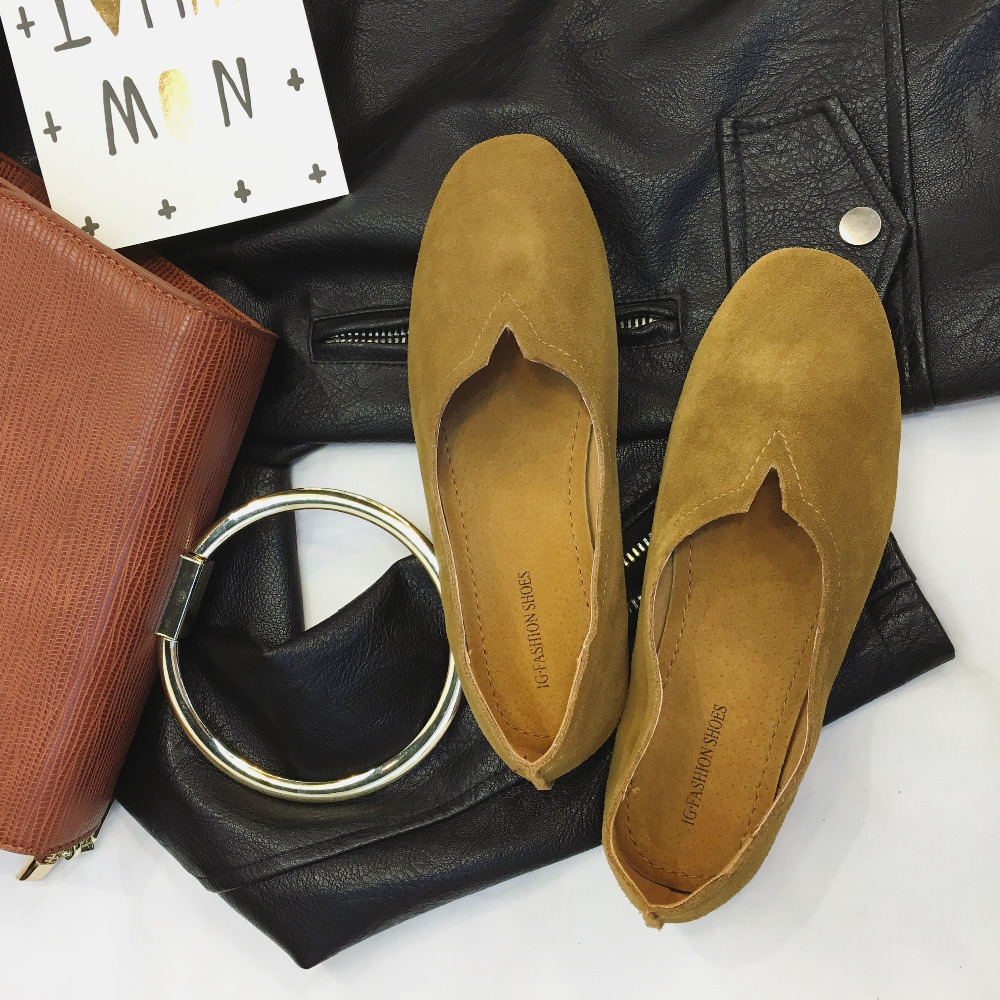 Buy ladies leather gloves online - Size 35 39 Ladies Shoes Glove Flats Shoe Leather Spring Shoes Glove Slipper Real Leather