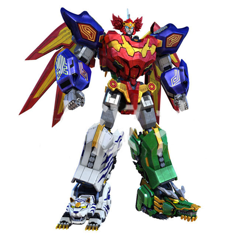 5 in1 Assembly Transformation Power Ranger Robot Action Figures Children Toys Gifts Megazord 7 pcs set with original package transformation robot cars and prime toys action figures classic toys for kids christmas gifts