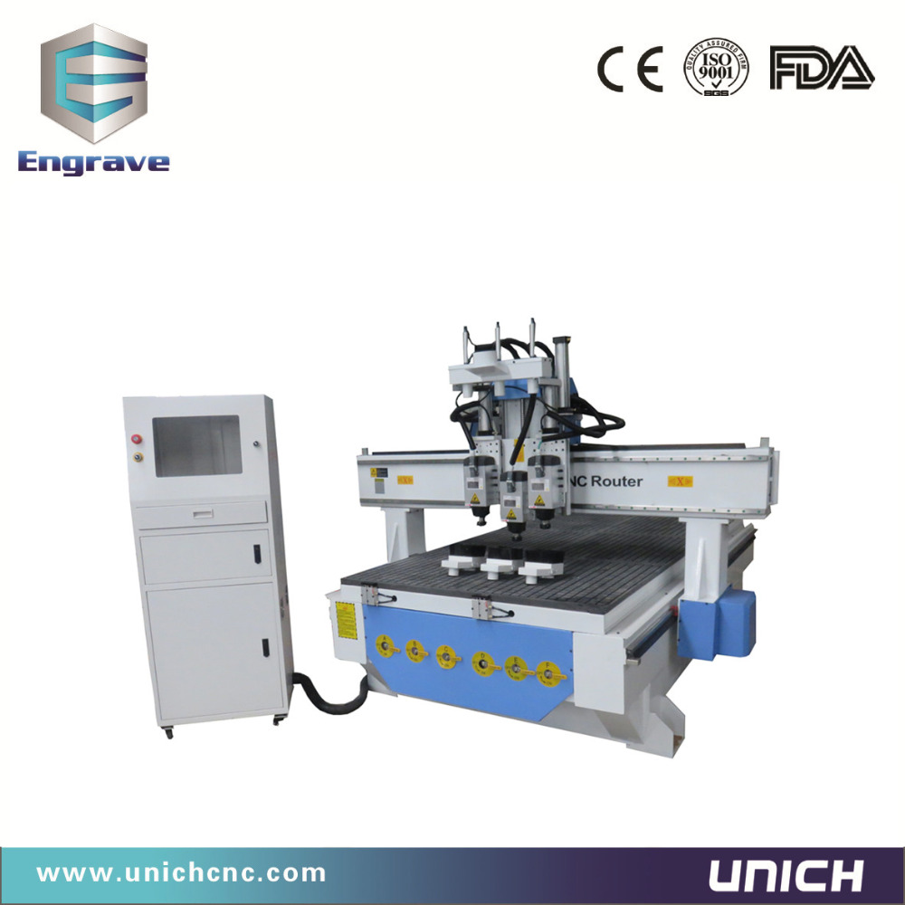 Three heads 3d relief cnc wood router china mainland wood router - Multi Heads Wood Cnc Router 3d Cnc Router Multi Spindle Cnc Router