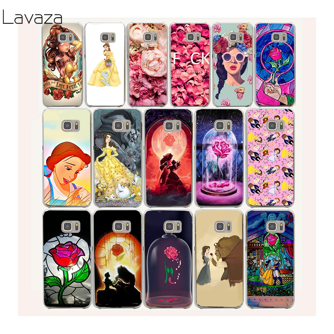 Belle s Beauty and the Beast Hard Transparent Case Cover for Galaxy S3 S4 S5 & Mini S6 S7 Edge Plus Case Cover
