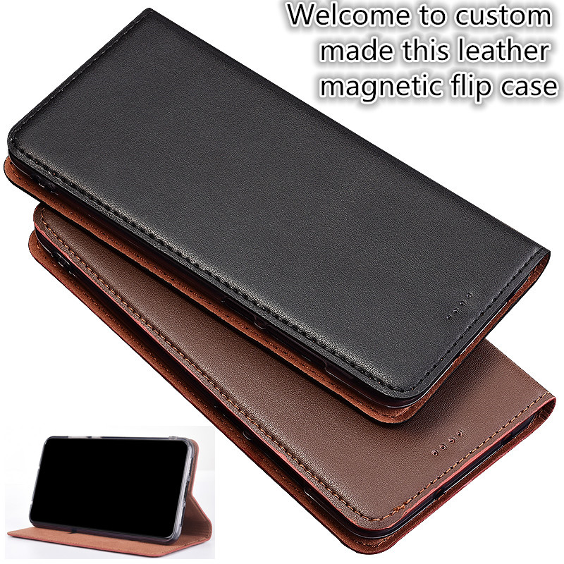 ZD03 Business Style Genuine Leather Flip Case For font b OnePlus b font font b 7