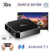 X96 Мини Android 7,1 Smart tv BOX Amlogic S905W четырехъядерный WiFi 2,4 ГГц X96mini набор верхней коробки 4 к HD приставка медиаплеер
