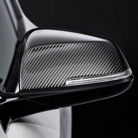 F22 Carbon Fiber Replace Car Mirror Cover Cap Trim for BMW F22 Auto Styling 2014 2016