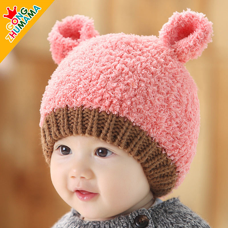 Lovely Panda Winter Baby Caps and Hats Girl Boy Kids Caps Brand Candy Color  2-36 months Baby Beanies Accessories To Keep Warm f6fff277c3b