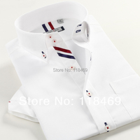 Mens Shirts Fashion 2014 Spring New Short Sleeve Casual Slim Fit Stylish Mens Hot Dress