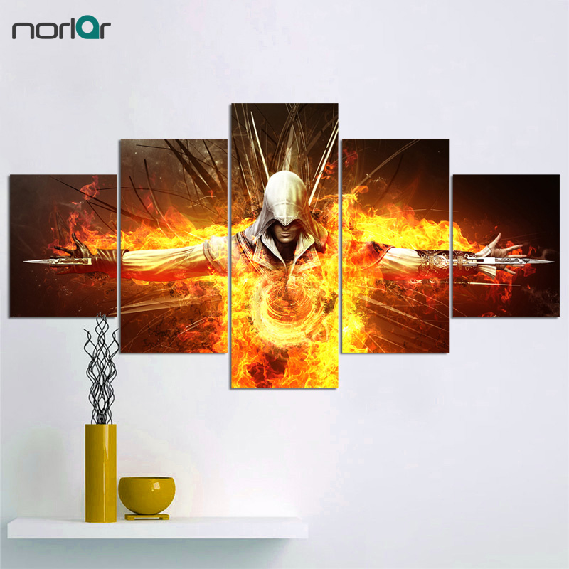 HD Printed Canvas painting Assassins Creed Video Game Poster Boys Room Decor Canvas Print Poster Picture Wallpaper Wall Art