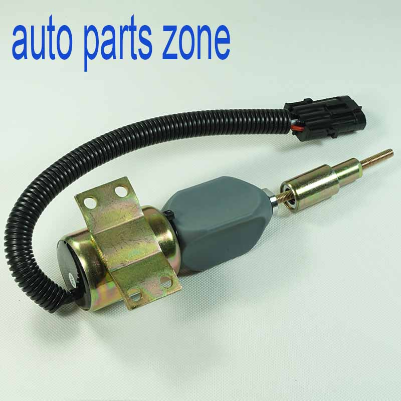 MH Electronic Fuel Shutdown Solenoid Valve Shut off Stop For Cummins VW Ford 3357411 907120120014 TRA130805 3355427 3 pin 24V