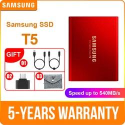 سامسونج المحمولة SSD T5 500GB 1 تيرا بايت الخارجية الصلبة الحالة HD القرص الصلب 1.8 USB 3.1 Gen2 (10 Gbps) لأجهزة الكمبيوتر المحمول سطح المكتب
