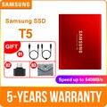 Samsung Портативный SSD T5 250 ГБ 500 1 ТБ 2 ТБ внешний твердотельный накопитель HD Жесткий диск 2,5