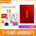 Samsung Draagbare SSD T5 250 GB 500 GB 1 TB 2 TB Externe Solid State HD Hard Drive 2.5