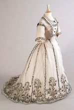 Vintage Day Dress 1865 Medieval Clothing Victorian dress satin dress