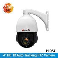 2.0MP IP Caméra suivi Automatique PTZ 36X ZOOM Starlight PTZ vitesse Dôme Caméra détection de Mouvement P2P CCTV Caméra de Sécurité IP Onvif