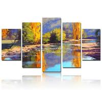 mountain lakes Diy diamond painting 3D square Full rhinestone pasted cross stitch Mosaic drawing decoration picture scenery