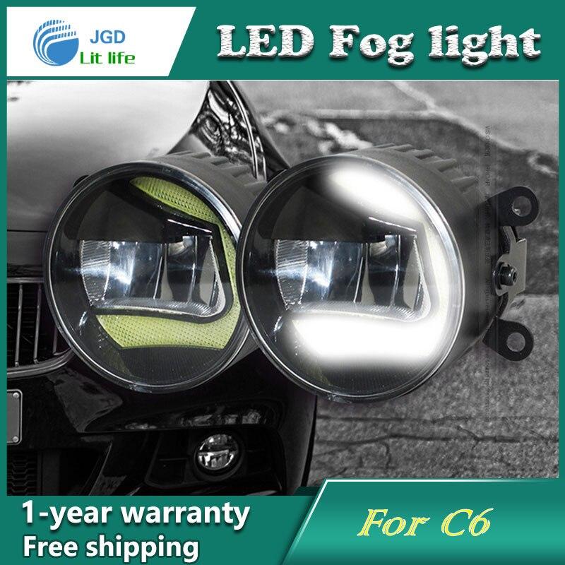 Супер Белый светодиодные дневные ходовые огни случае для Ситроен С6 DRL свет бар парковка автомобилей Противотуманные фары 12 В DC фара