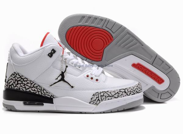 d81678b04abb JORDAN 3 Men Basketball Shoes White Cement Black Cat Bred Military Blue Pure  Money Fire Red Athletic Outdoor Sport Sneakers