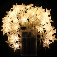 4M 40pcs LED Party Fairy Lights Battery Operated Five Pointed Star LED String Lights For Wedding